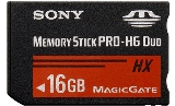Sony MSHX16B Memory Stick PRO-HX Duo 16 GB, 50MB / s (240Mbps)* Read / Write