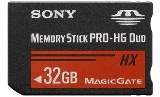 Sony MSHX32B Memory Stick PRO-HX Duo 32 GB, 50MB / s (240Mbps)* Read / Write