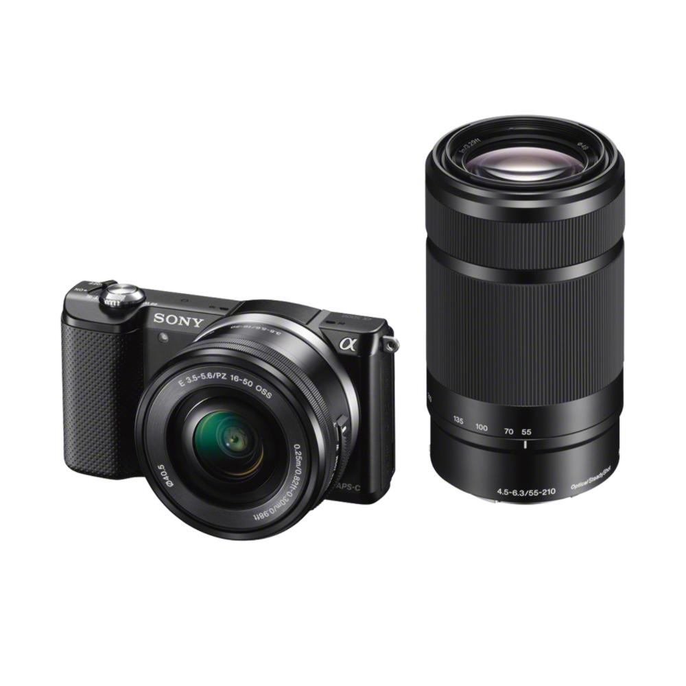SONY ILCE-5000 Fotoaparát Alfa 5000 s bajonetem E + 16-50mm a 55-210mm objektiv