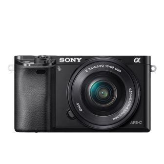 SONY ILCE-6000 Fotoaparát Alfa 6000 s bajonetem E + 16-50mm objektiv - Silver
