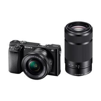 SONY ILCE-6000 Fotoaparát Alfa 6000 s bajonetem E + 16-50mm a 55-210mm objektiv