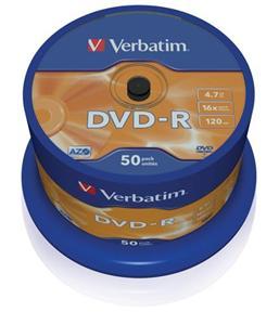 VERBATIM DVD-R(50-Pack)Spindle / General Retail / 16x / 4.7GB