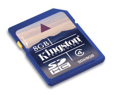 KINGSTON 8GB SDHC Memory Card - High Capacity Class 4