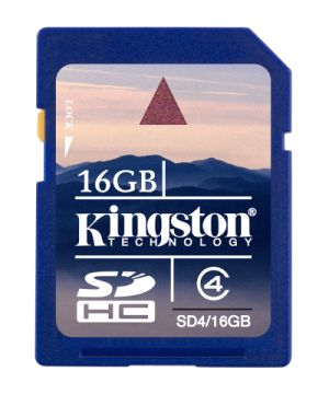 KINGSTON 16GB SDHC Memory Card - High Capacity Class 4