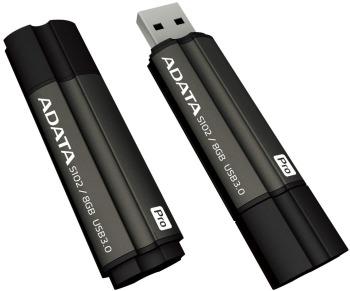 ADATA Superior series S102 PRO 8GB USB 3,0 flashdisk, šedý, hliník, 12/80MB/s
