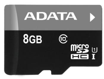 ADATA micro SDHC karta 8GB Class 10 + adaptér SD