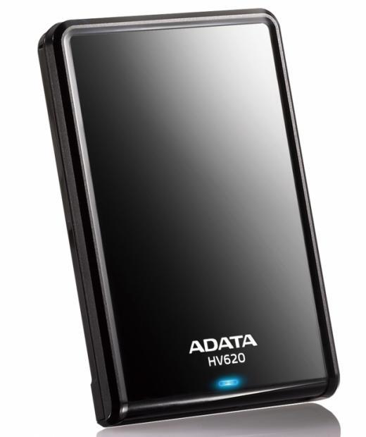 ADATA HV620 DashDrive 1TB ext, HDD 2,5'', USB 3,0, černý, lesklý
