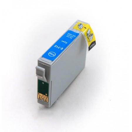 Epson T0712 modrá, kompatibilní cartrige